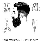 vector hand drawn  poster with... | Shutterstock .eps vector #349814639