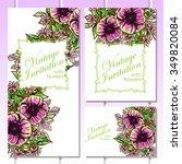 romantic invitation. wedding ... | Shutterstock . vector #349820084