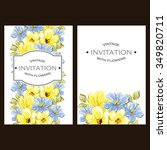 romantic invitation. wedding ...   Shutterstock .eps vector #349820711