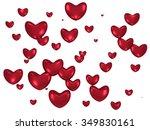 red heart floating on white...   Shutterstock . vector #349830161