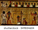 book of the dead papyrus... | Shutterstock . vector #349834604