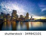 ferry building and embarcadero... | Shutterstock . vector #349842101