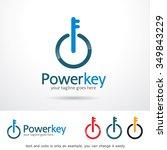 power key logo template design... | Shutterstock .eps vector #349843229