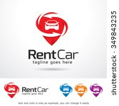 rental car logo template design ...