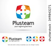 plus team logo template design... | Shutterstock .eps vector #349843271
