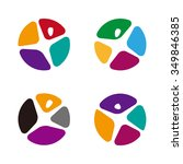 round design colorful people... | Shutterstock .eps vector #349846385