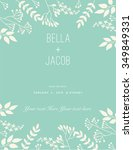wedding invitation  thank you... | Shutterstock .eps vector #349849331