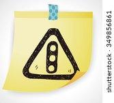 traffic light doodle | Shutterstock .eps vector #349856861