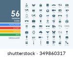 fashion vector set of modern... | Shutterstock .eps vector #349860317