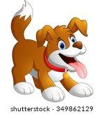 Cute Fun Dog Cartoon