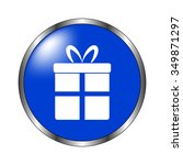 gift   vector icon on the blue...