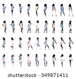 fashion croquis women... | Shutterstock .eps vector #349871411