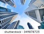 central business district in... | Shutterstock . vector #349878725