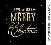 merry christmas. vector... | Shutterstock .eps vector #349885349