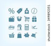 shopping icons | Shutterstock .eps vector #349892351