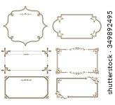 gold frame set vector  | Shutterstock .eps vector #349892495