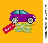 car sale design template with... | Shutterstock . vector #349895375