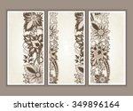 set of wedding invitation card... | Shutterstock .eps vector #349896164