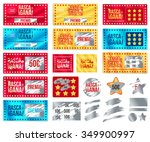 ticket collection scratch and... | Shutterstock .eps vector #349900997