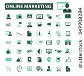 online marketing  digital... | Shutterstock .eps vector #349908284