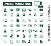 online marketing  digital... | Shutterstock .eps vector #349908284