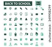 back to school  teacher ... | Shutterstock .eps vector #349908299