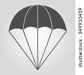 parachute icon | Shutterstock .eps vector #349910459