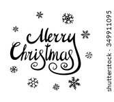 merry christmas black... | Shutterstock .eps vector #349911095