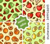 seamless fruit backgrounds set  ...   Shutterstock .eps vector #349916645