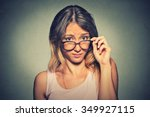 confused skeptical woman... | Shutterstock . vector #349927115