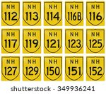 collection of route shields of... | Shutterstock . vector #349936241
