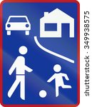 residential shared zone sign in ... | Shutterstock . vector #349938575