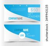 gift card voucher. business... | Shutterstock .eps vector #349943135