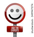 ask the experts road face...   Shutterstock .eps vector #349947374