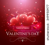 valentine's day message ...   Shutterstock .eps vector #349950977