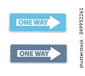 one way signs vector drawing... | Shutterstock .eps vector #349952261