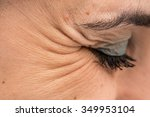 eye with crow's feet | Shutterstock . vector #349953104