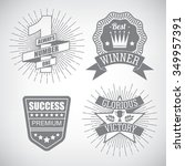 set of hipster emblem about... | Shutterstock .eps vector #349957391