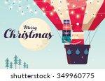 Santa Claus In Hot Air Balloon...