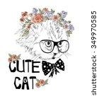 Stock vector cute cat 349970585