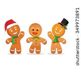 humorous gingerbread man | Shutterstock .eps vector #349973891