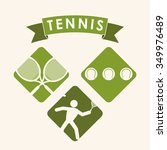 tennis concept with sport icons ... | Shutterstock .eps vector #349976489
