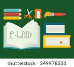 back to school concept with... | Shutterstock .eps vector #349978331