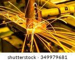 spot welding machine industrial ... | Shutterstock . vector #349979681