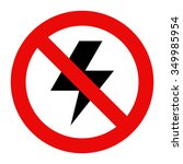 no lightning icon isolated on... | Shutterstock .eps vector #349985954