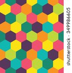 vector modern seamless colorful ... | Shutterstock .eps vector #349986605