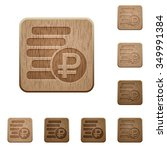 set of carved wooden ruble...