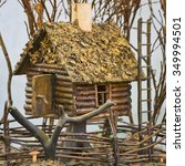 Small photo of Toy timber house.Sele?tive focus