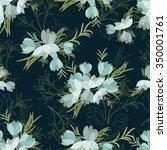 floral crocus retro vintage... | Shutterstock .eps vector #350001761