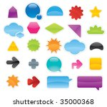 collection of colored labels... | Shutterstock .eps vector #35000368